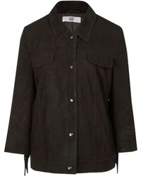 Hide - Black Fringe Sleeve Suede Jacket - Lyst