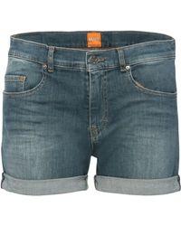 BOSS Orange - Shorts In Stretch Cotton Blend In Vintage Style: 'orange J70 Phoenix' - Lyst