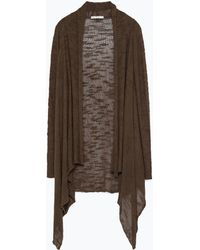Zara Wrap Jacket brown - Lyst