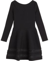 RED Valentino Stretch Dress With Mesh Insert black - Lyst