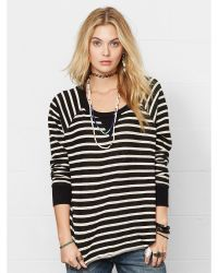 Denim & Supply Ralph Lauren Striped Crewneck Sweatshirt - Lyst