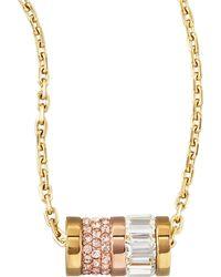 Michael Kors - Barrel Pendant Necklace - Lyst