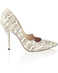 Paul Andrew Neutral Whip Snake Zenadia Heels - Lyst