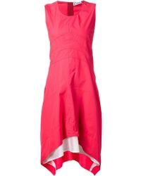 Jil Sander Asymmetric Sleeveless Dress - Lyst