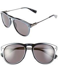 Lanvin Men'S 'Modified Aviator' 53Mm Sunglasses - Metallic Silver - Lyst