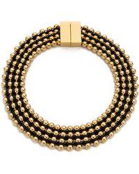 Bex Rox - Frida Collar Necklace Goldblack - Lyst