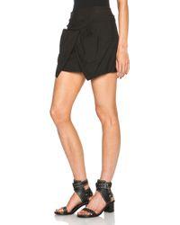 Isabel Marant Irwin Chic Linen Skirt black - Lyst