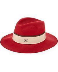 Maison Michel - Henrietta Felt Hat - For Women - Lyst