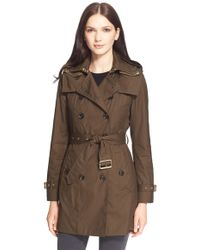 Burberry Brit - 'reymoore' Trench Coat With Detachable Hood & Liner - Lyst