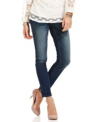American Rag - Skinny Mediumwash Jeans - Lyst