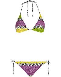 Missoni Mare Colour Block Zig Zag Bikini - Lyst