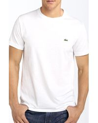 Lacoste Cotton Logo T-Shirt green - Lyst