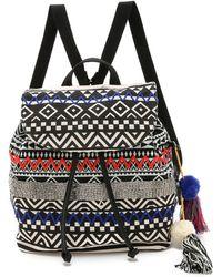Sam Edelman Bella Backpack - Black/White - Multicolor