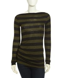 James Perse Camper Long Sleeve Striped Top - Lyst
