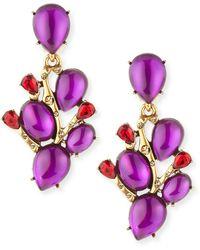 Oscar de la Renta Hyacinth Vine Earrings - Lyst