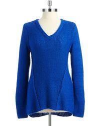 Calvin Klein V Neck Sweater - Lyst