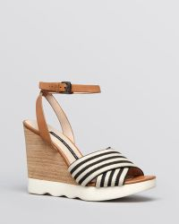 French Connection - Platform Wedge Ankle Strap Sandals Jane - Lyst