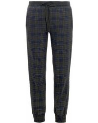 Current/Elliott The Slim Vintage Plaid Track Pants - Lyst