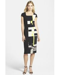 Marc New York By Andrew Marc Print Jersey Blouson Dress - Lyst