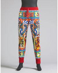 Dolce & Gabbana | Printed Fleece Jogging Trousers | Lyst