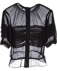Catherine Deane Black Blouse - Lyst