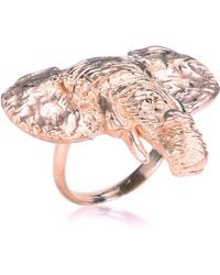 Dominique Lucas Elephant Ring Rose Gold - Pink