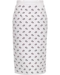 Emilio de la Morena - Paisley-Print Stretch-Silk Skirt - Lyst