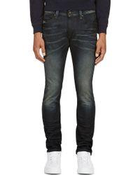 Diesel Blue Faded Thavar Jeans - Lyst