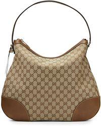 Gucci Bree Original Gg Canvas Hobo Bag - Lyst