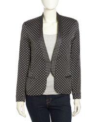 Nicole Miller Diamondknit Tailored Blazer - Lyst