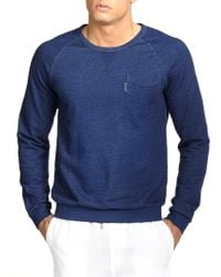 F. Faconnable Cotton Crewneck Sweater - Lyst