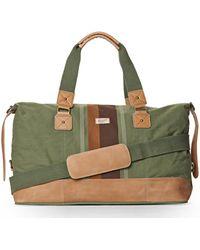 Original Penguin - Green Printed Canvas Duffle Bag - Lyst