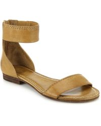 Frye Carson Leather Sandals beige - Lyst