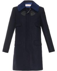 See By Chloé Contrast Collar Duffle Coat - Lyst