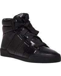 3.1 Phillip Lim Morgan Black Leather Lace-Up Sneaker black - Lyst