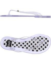 D&G Transparent Flip Flops - Lyst