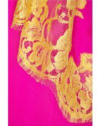 Rosamosario Bling Bling Love Silkchiffon Chemise - Pink