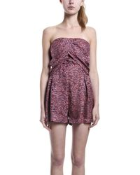 Elizabeth And James Emma Romper Pink pink - Lyst