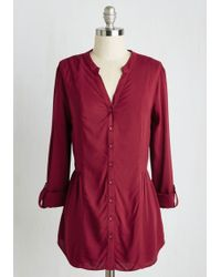 ModCloth | Trusty Travel Top In Wine | Lyst