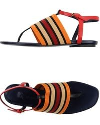 Vionnet Thong Sandal red - Lyst