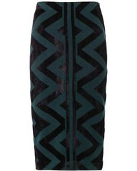 Burberry Prorsum Geometric Compact Knit Pencil Skirt - Lyst