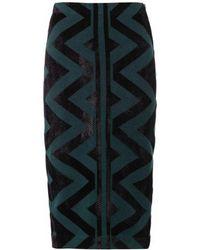 Burberry Prorsum Geometric Compact Knit Pencil Skirt - Lyst