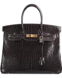 Hermès | Graphite Porosus Birkin Bag 35cm | Lyst