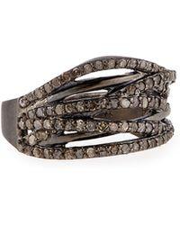 Siena Jewelry - Diamond Branch Ring - Lyst