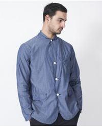 Still By Hand | Cotton Blazer / Blue | Lyst