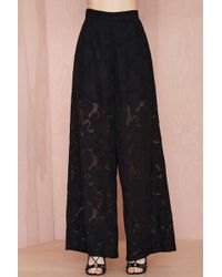 Nasty Gal Nicola Embroidered Trousers - Lyst