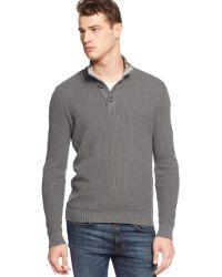 American Rag Textured Mock-Neck Sweater - Lyst