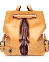 Francesco Biasia - Incenso Genuine Leather Backpack/shoulder Bag - Lyst