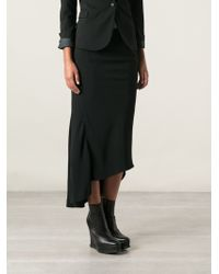 Haider Ackermann Black High-Low Skirt - Lyst