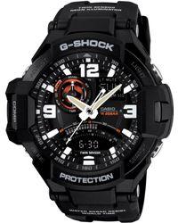 G-Shock Men'S Analog-Digital Black Resin Strap Watch 51X52Mm Ga1000-1A - Lyst